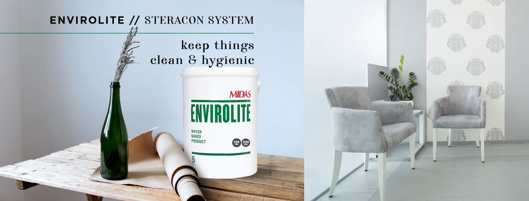 Steracon Byotrol Decontamination System anti-microbial, anti-bacterial, anti-fungal paint
