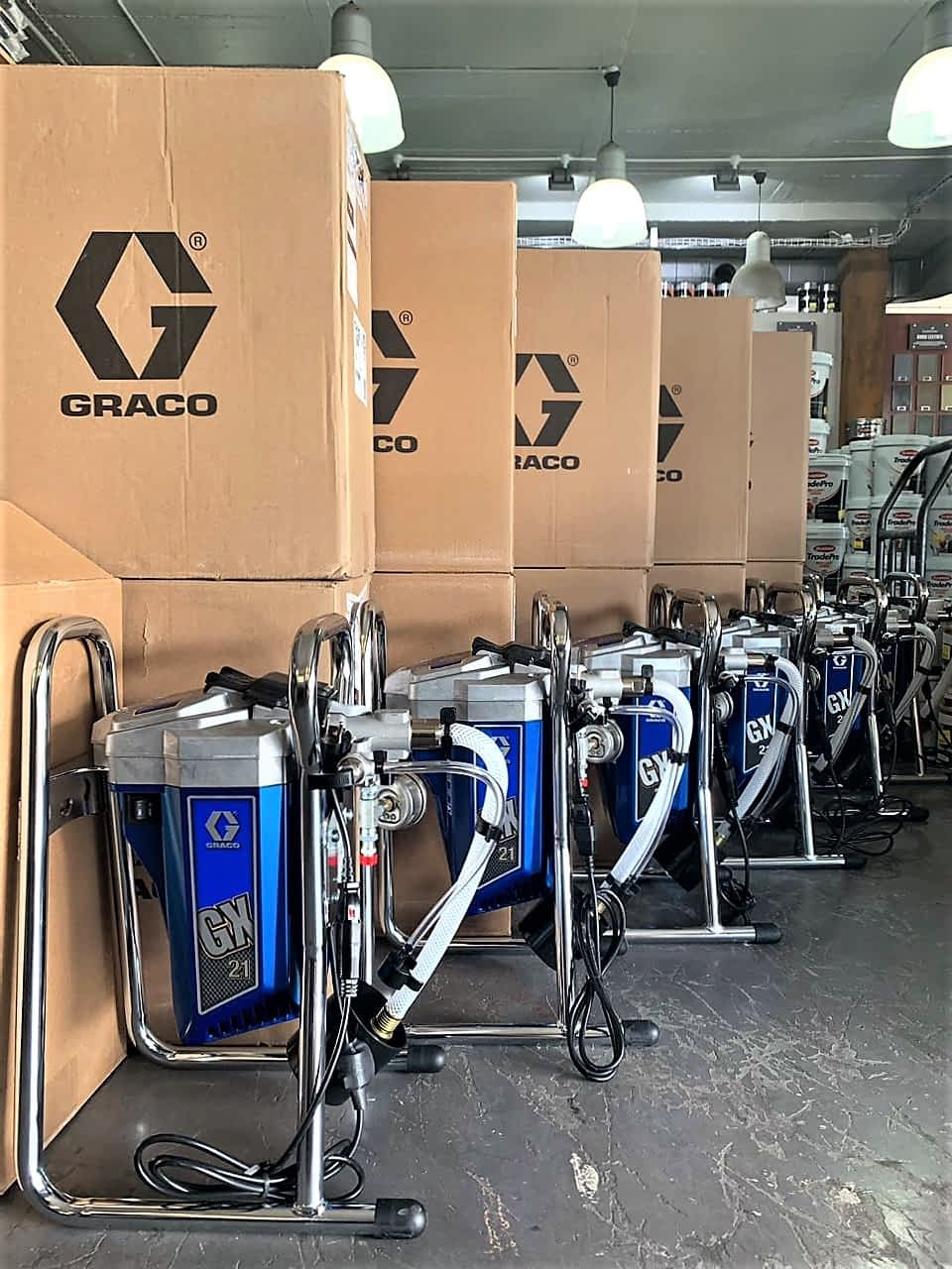 Graco GX21 Airless Paint Sprayer stock at Midas Paints Tygervalley