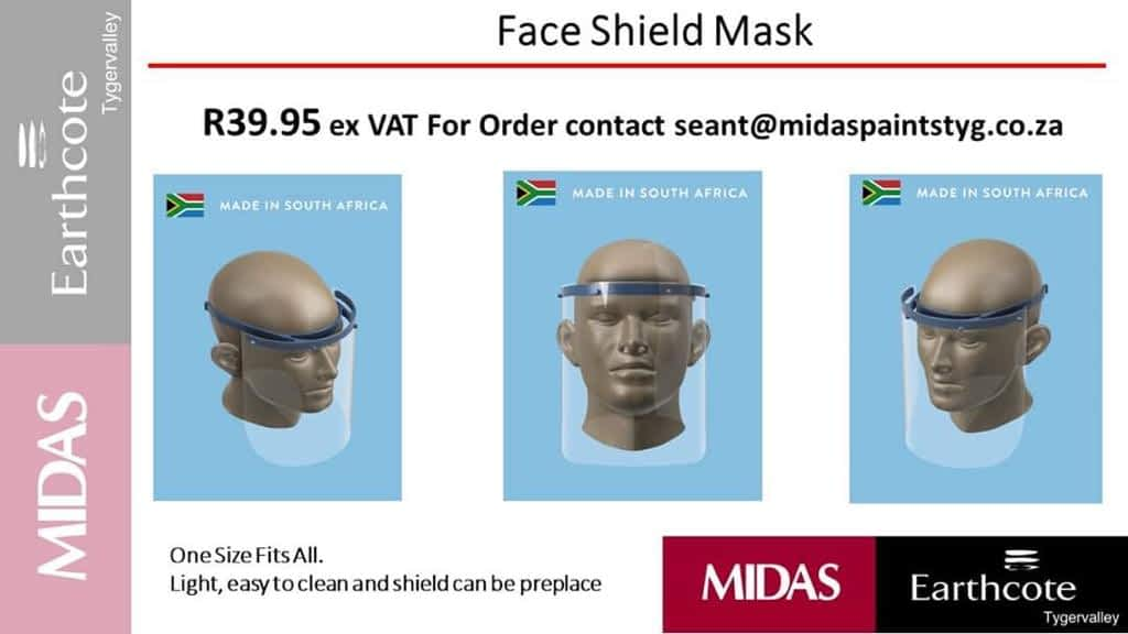 COVID-19 PPE Faceshield Masks